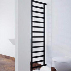 Terma Simple DW Room Divider Designer Radiator Towel Warmer Ladder Rail Heban/Black Stylish Contemporary Modern Design