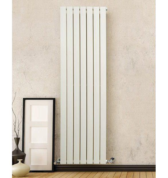 DQ Tornado Double White Vertical Radiator