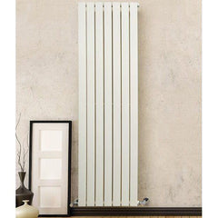 DQ Tornado Single White Vertical Radiator