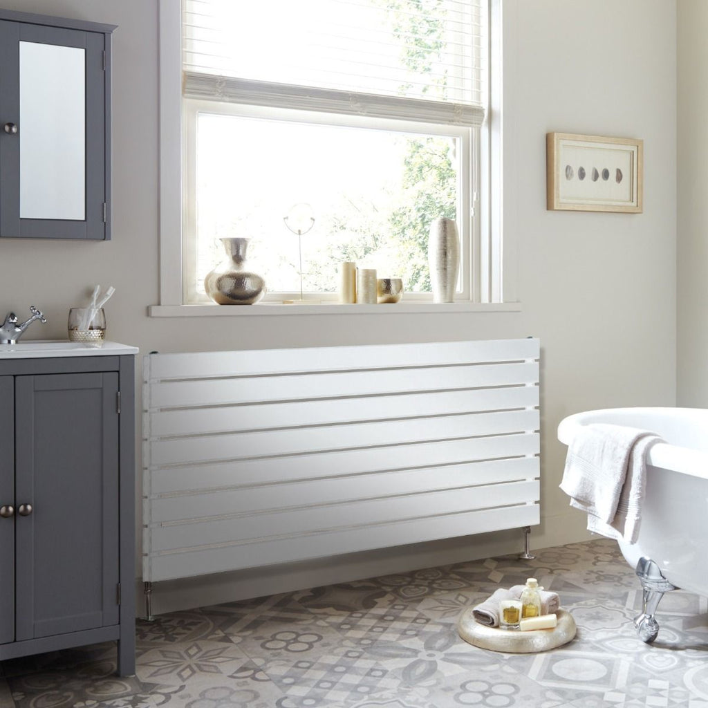 DQ Tornado Single White Horizontal Radiator