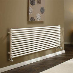 DQ Vulcano Single White Horizontal Radiator