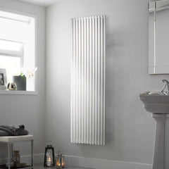 DQ Vulcano Single White Vertical Radiator
