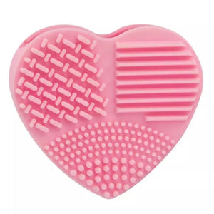 Heart makeup brush cleaning tool