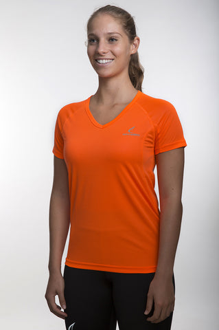 Running Lightweight V Women Yellow חולצת ריצה