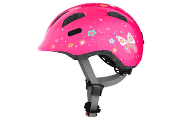 FINNRAD® | ABUS Helme | ABUS Kinderhelm Smiley | S (45-50) / S pink butterfly
