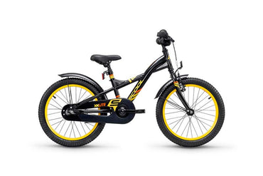 FINNRAD® | S'COOL Kinderfahrrad | S'COOL XXlite 18 steel black/yellow (Modell 2018) | black / yellow