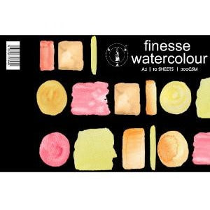 Finesse Watercolour Pad 300gsm 10 Sheets-Watercolour Pads-Brush and Canvas