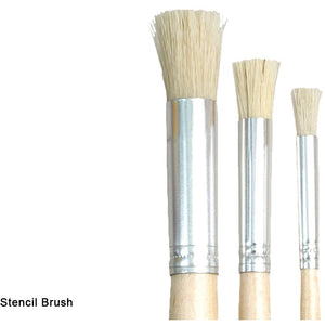 Dala Stencil Brushes-Mixed Media Brushes-Brush and Canvas