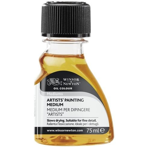 Winsor & Newton Artists' Painting Medium-Oil-Brush and Canvas