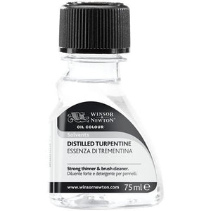 Winsor & Newton Distilled Turpentine-Oil-Brush and Canvas