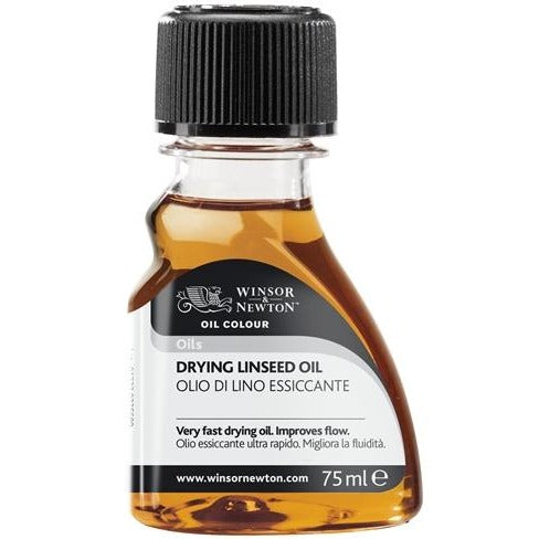 Winsor & Newton Drying Linseed Oil 75ml-Oil-Brush and Canvas