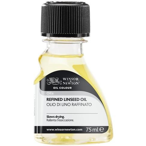 Winsor & Newton Refined Linseed Oil-Oil-Brush and Canvas