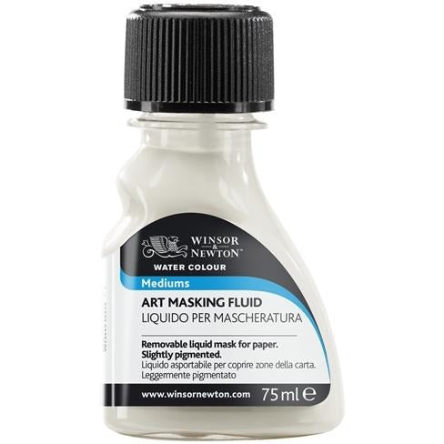 Winsor & Newton Watercolour Artists' Masking Fluid 75ml-Watercolour-Brush and Canvas