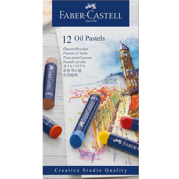 Faber-Castell Oil Pastels Assorted Colours-Oil Pastels-Brush and Canvas