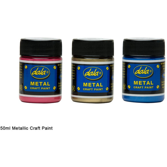 Dala Metallic Craft Paint-Craft Paints-Brush and Canvas