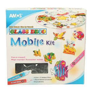 Amos Glass Deco Mobile Kit-Activity Sets-Brush and Canvas