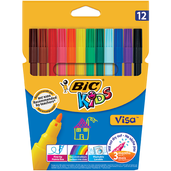 Bic Kids Visa Wallet-Drawing & Colouring-Brush and Canvas