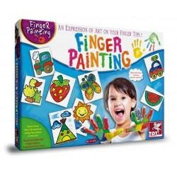 ToyKraft Finger Painting - Little Fingers-ACTIVITY SETS-Brush and Canvas