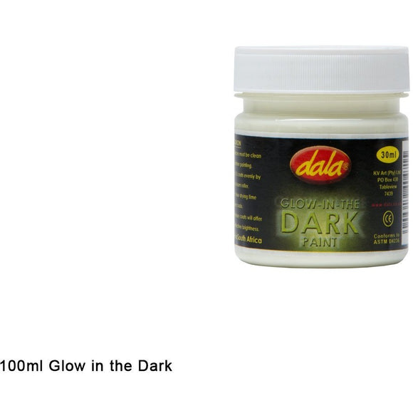 Dala Glow In the Dark Craft Paint-Craft Paints-Brush and Canvas