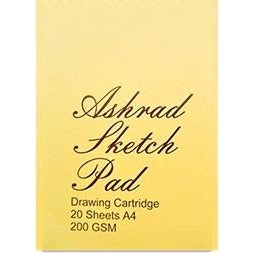 Ashrad Sketch Pad 200gsm-Sketch Pads-Brush and Canvas
