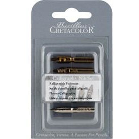 Cretacolor Calligraphy Nibs-Calligraphy-Brush and Canvas