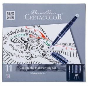 Cretacolor Calligraphy Set - 11 piece-Calligraphy-Brush and Canvas