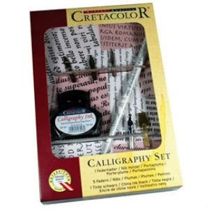 Cretacolor Calligraphy Set - 7piece-Calligraphy-Brush and Canvas