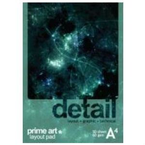 Prime Art Detail Layout Pad 60g 50 Sheets-Sketch Pads-Brush and Canvas