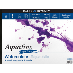 Daler-Rowney Aquafine Watercolour Pad Cold Pressed Texture 300gsm-Watercolour Pads-Brush and Canvas
