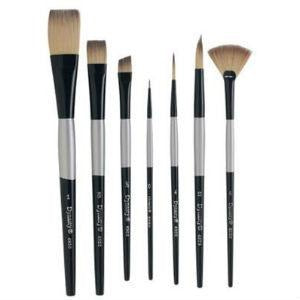 Dynasty 4900 Silver Series - Liner-Short Brushes-Mixed Media Brushes-Brush and Canvas