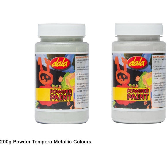 Dala Metallic Powder Tempera 200g-Tempera-Brush and Canvas