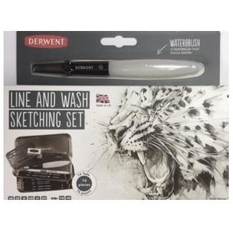 Derwent Line & Wash Sketching-Sets-Brush and Canvas
