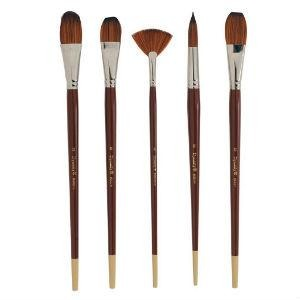 Dynasty Series 8300 Bright Brushes-Mixed Media Brushes-Brush and Canvas