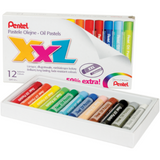 Pentel XXL Oil Pastels-Oil Pastels-Brush and Canvas