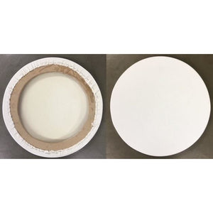 Hand Crafted round canvas-ARTIST HAND CRAFTED CANVAS-Brush and Canvas