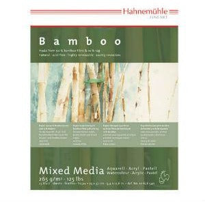 Hahnemuhle Bamboo Mixed Media (265gsm)-Mixed Media Paper-Brush and Canvas
