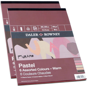 Daler-Rowney Pastel Warm 160gsm-Mixed Media Pads-Brush and Canvas