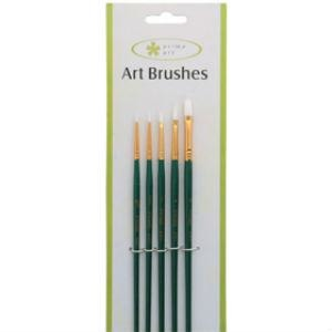 Prime Art White Taklon Brush Set (5pc)-Brush Sets-Brush and Canvas