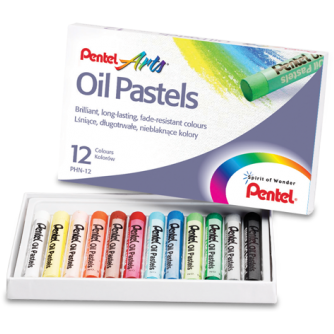 Pentel Oil Pastels-Oil Pastels-Brush and Canvas