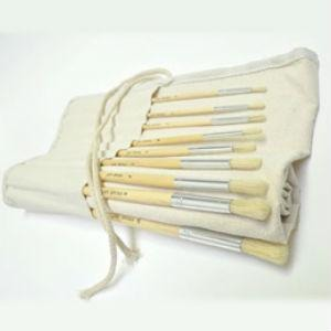 Prime Art Brush Set in a Roll - 18 Bristle Brushes-Brush Sets-Brush and Canvas