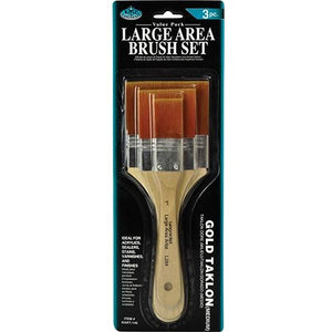 Gold Taklon Brush Set of 3-Brush Sets-Brush and Canvas