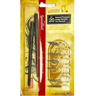 Speedball No.20 General Purpose - 6 Nibs-Calligraphy-Brush and Canvas