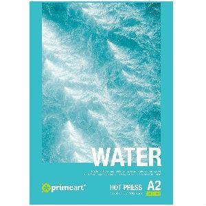 Prime Art Water Pad 300gsm 10 Sheets - Hot Pressed-Watercolour Pads-Brush and Canvas