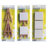 Prime Art Pocket Canvas Sets-Regular Canvas Stretchers-Brush and Canvas