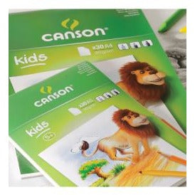 Canson Kids Drawing Pad 90gsm-Drawing & Colouring-Brush and Canvas