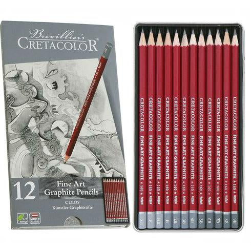 CRETACOLOR Fine Art Graphite Pencils (Cleos) 12 Pc Set