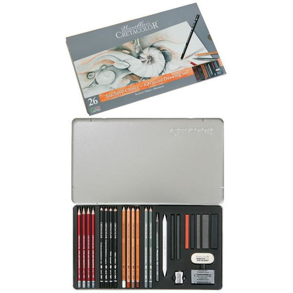 Cretacolor Teachers Choice Advanced Drawing Set-Sets-Brush and Canvas