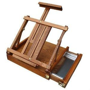 Renoir Table Box Easel - Metal Tray (EA8)-Easels-Brush and Canvas