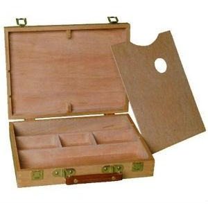 Wooden Artbox - Suitcase Style-Artboxes & Storage-Brush and Canvas