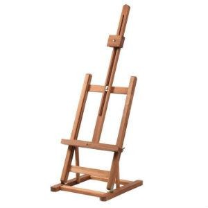 Table Easel Wooden H-Frame (EA10)-Easels-Brush and Canvas